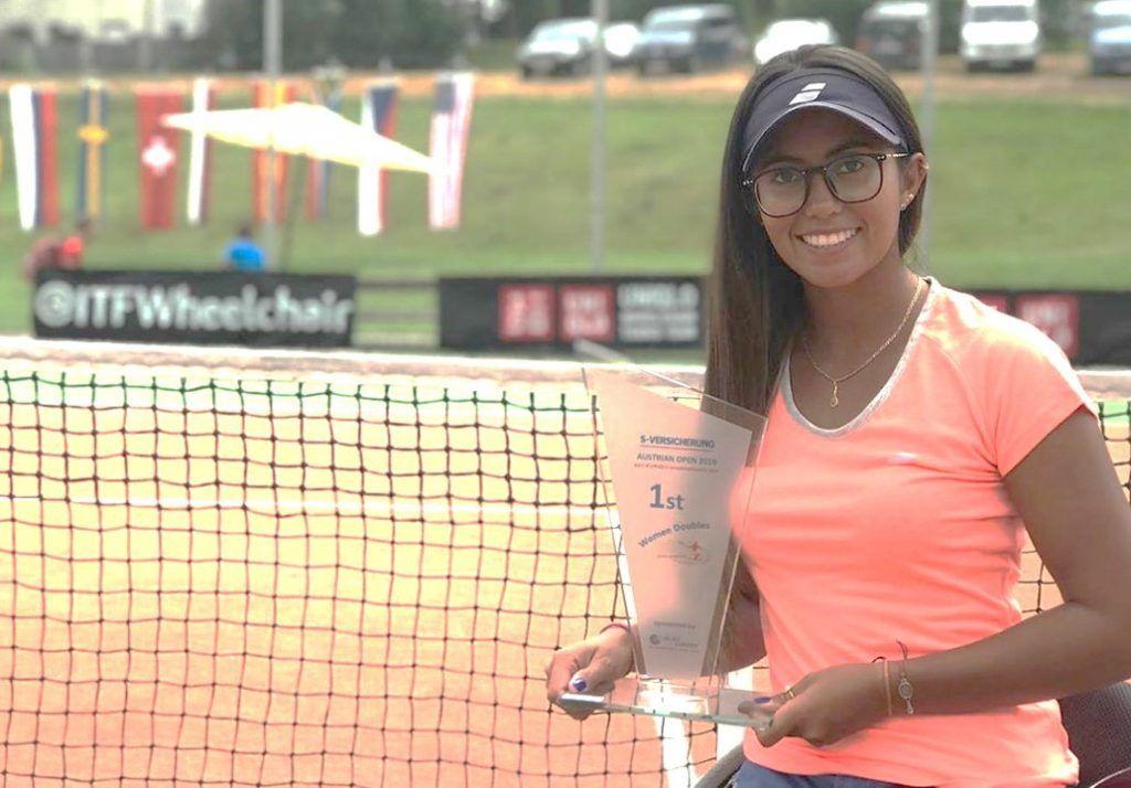 María Angélica Bernal, tenista colombiana, en condición de discapacidad, Un ejemplo para todos.